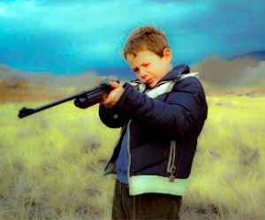 boy with rifle